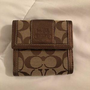 Cute Khaki/Bronze Coach Wallet !!